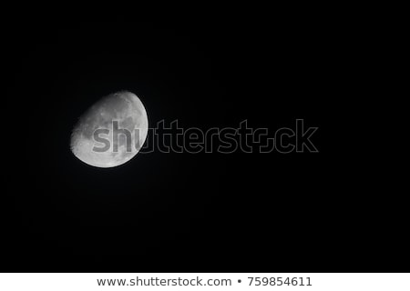 waxing gibbous moon 30 october 2017 stock photo © suerob