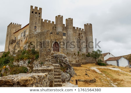 Castillo medieval vista de la calle cielo azul aire libre Foto stock © zhekos