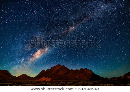 mleczny · sposób · góry · noc · krajobraz · fantastyczny - zdjęcia stock © anna_om