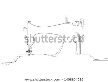 fonál · varrógép · méretre · szab · gép · stúdió · szerszám - stock fotó © dolgachov