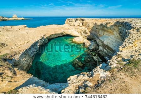 Mağara şiir görmek bölge İtalya yaz Stok fotoğraf © Fotografiche