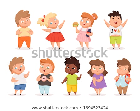 Girl and boy with different healthy and unhealthy body Stock photo © bluering