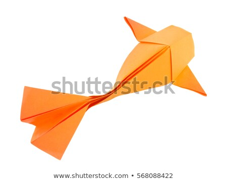 Or poissons origami isolé blanche papier Photo stock © brulove