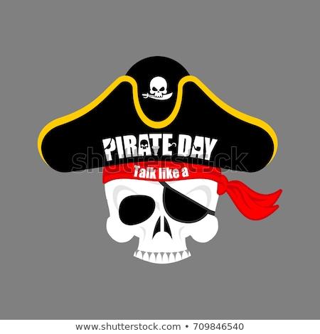 Internationalen sprechen wie Piraten Tag Schädel Stock foto © popaukropa