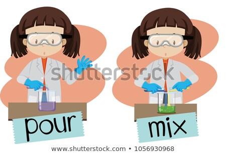 単語 少女 実験 実例 ストックフォト © bluering