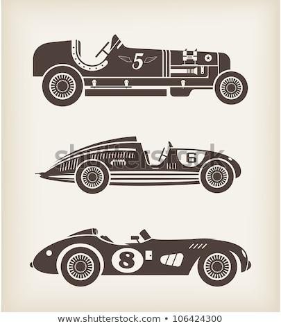 Retro esportes corrida carro vintage coleção Foto stock © sidmay
