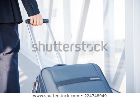 people travelling through an airport stock photo © lubavnel
