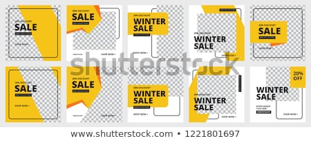 Modern promotion square web banner for social media mobile apps. Elegant sale and discount promo bac Stock photo © ikopylov