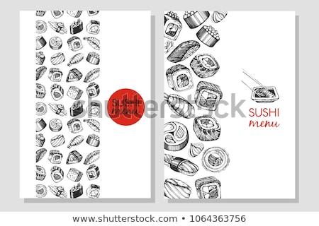 a japanese sushi menu set stock photo © bluering