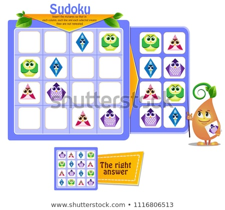 formas · búhos · juego · ninos · fotos · ninos - foto stock © Olena