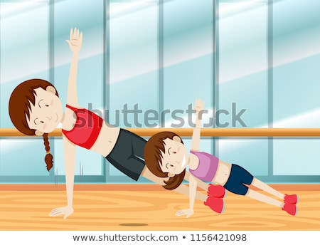 Mother and daugther weight training Stock photo © bluering