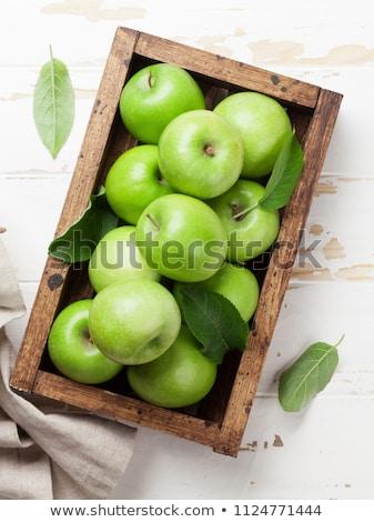 yeşil · elma · kutu · kutuları · elma · görüntü - stok fotoğraf © karandaev