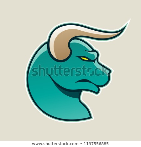 Grünen Karikatur Stier Symbol Vektor Illustration Stock foto © cidepix