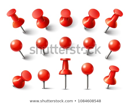 set of 3d pushpins vector illustration stock photo © kup1984