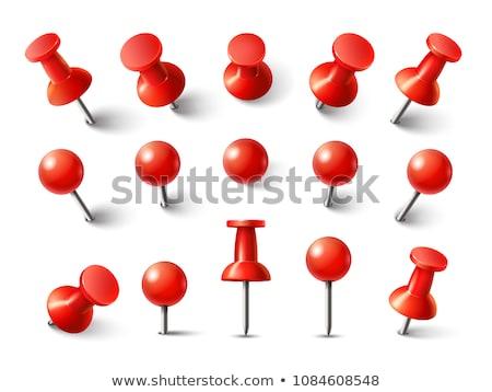Set of 3d pushpins, vector illustration. Stock photo © kup1984
