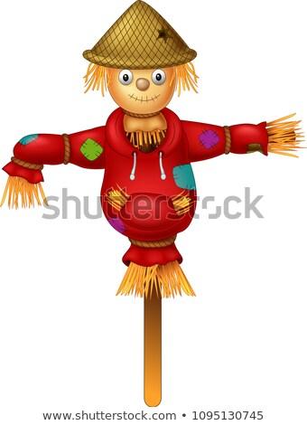 Cartoon Scarecrow Waving Stock photo © cthoman