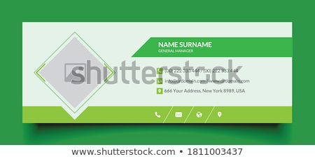 professional green business banner layout template Stock photo © SArts