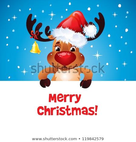 neşeli · Noel · ren · geyiği · kar · sahne · kış - stok fotoğraf © ori-artiste