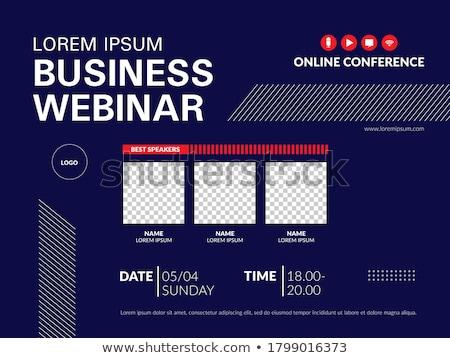 Online konferencia üzlet üzletemberek kézfogás laptop Stock fotó © RAStudio