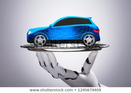 ロボット · ホイール · 3次元の図 · 青 · 白 · 技術 - ストックフォト © andreypopov