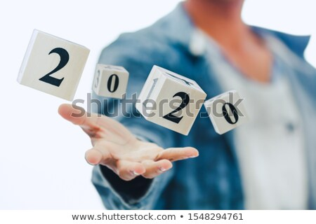 3d businessman with year year 2020 stock photo © ribah