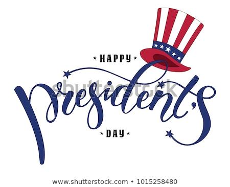 Felice giorno USA celebrazione design bandiera Foto d'archivio © articular