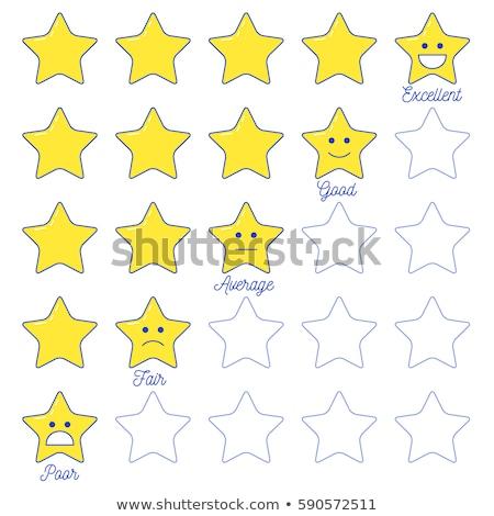 Geribesleme ifade star ölçek hat dizayn Stok fotoğraf © kali