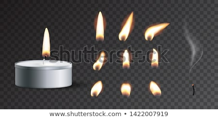 vector set of candle stock photo © olllikeballoon