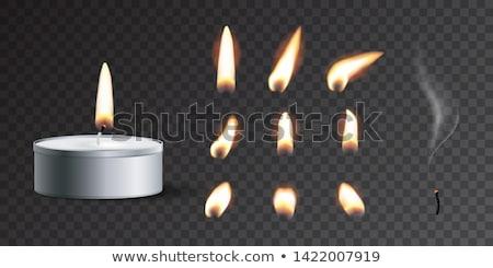 vector set of candle Stock photo © olllikeballoon