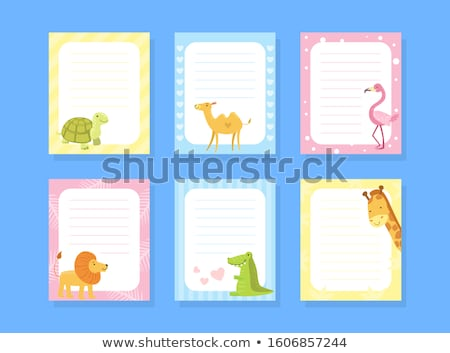 Schildpad nota illustratie textuur achtergrond frame Stockfoto © bluering