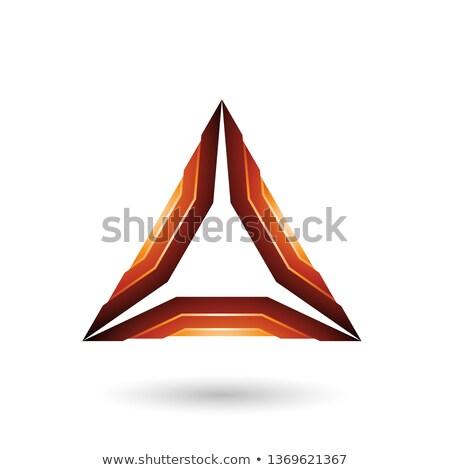 Marrom mecânico triângulo vetor ilustração Foto stock © cidepix