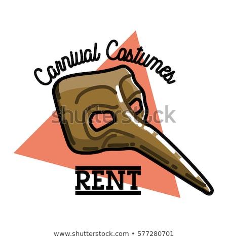 color vintage carnival costumes rent emblem stok fotoğraf © netkov1