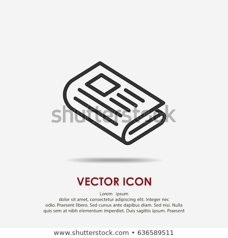 press newspaper icon Stock photo © romvo