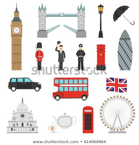 ロンドン · フラグ · シンボル · セット · 建物 · デザイン - ストックフォト © jossdiim