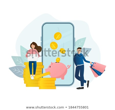 crowdfunding website with money wallet and man stock photo © robuart