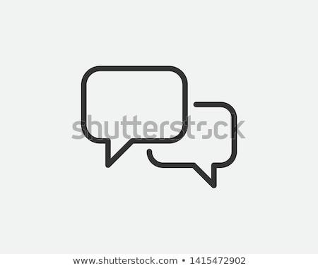 Sohbet ikon beyaz telefon dizayn sanat Stok fotoğraf © smoki