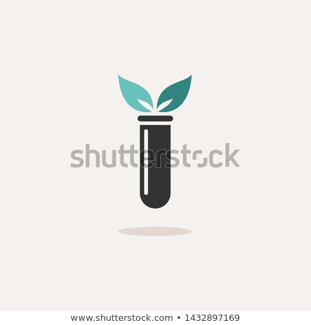 Lab plant color icon with shade on a beige background Stock photo © Imaagio