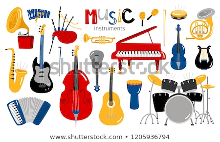musical instruments cartoon illustration set Stock photo © izakowski