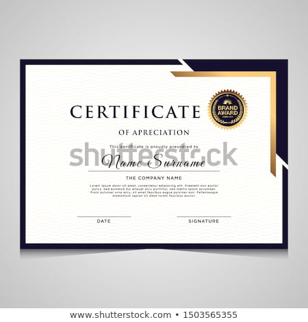 Corporate waardering certificaat ontwerpsjabloon achtergrond succes Stockfoto © SArts