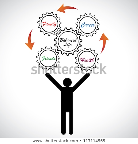 Person juggle with letters Stock photo © ra2studio