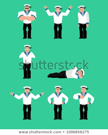 Angry Sailorman Head Cartoon Stock photo © patrimonio