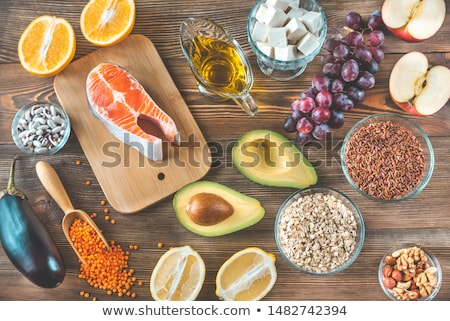 Stock photo: Foods providing low cholesterol diet