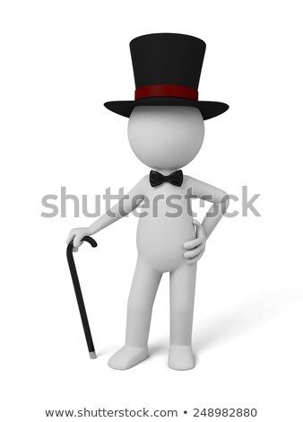 Human figure with bow tie Stock photo © montego