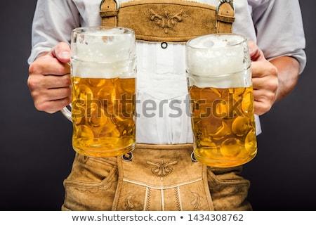 bier · tuin · vrienden · drinken · pub · man - stockfoto © kzenon