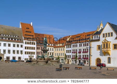 Stock photo: statue of the town founder, Freiberg, Germany