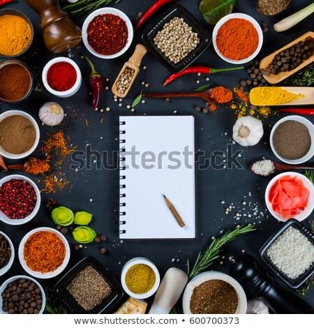 Aromático colorido temperos cópia espaço tabela Foto stock © grafvision