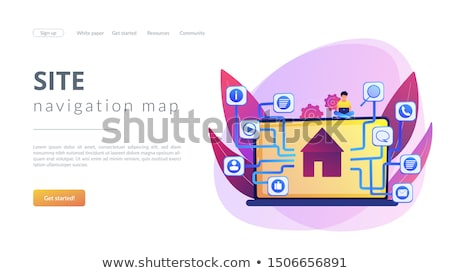 Sitemap creation concept landing page Stock photo © RAStudio