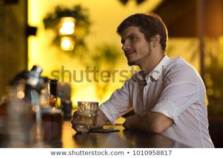 Portre adam viski gece klübü iş Stok fotoğraf © wavebreak_media
