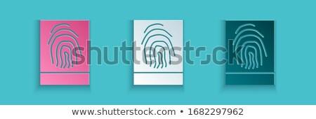 Emberi ujjlenyomat zöld stílus ujj nyomtatott Stock fotó © cienpies
