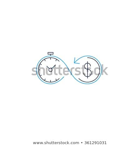 Geld klok dollarteken voorraad geïsoleerd Stockfoto © kyryloff